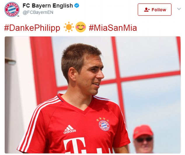 The German champions also honoured Philip Lahm, who is hanging his boots up this season