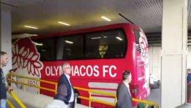 Έντονη αστυνομική παρουσία στην άφιξη του Ολυμπιακού στο ΟΑΚΑ (vid)
