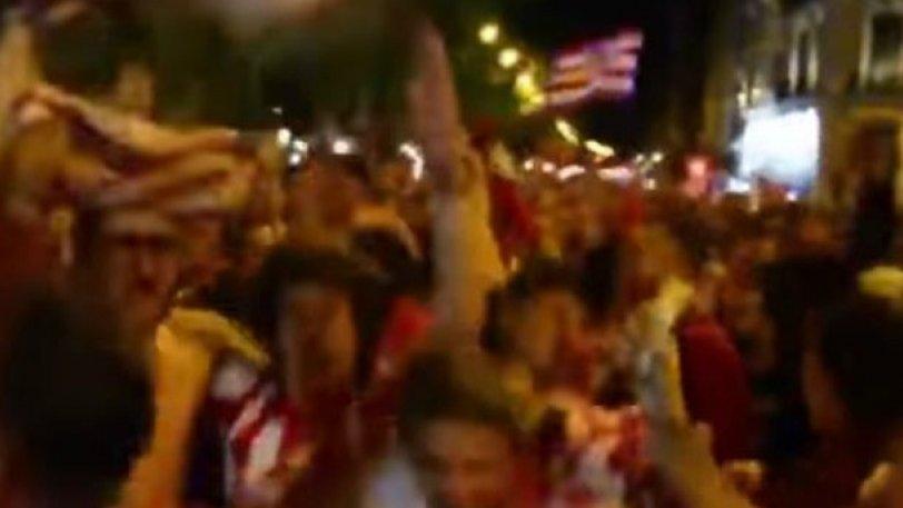 Πανηγύριζαν όλη τη νύχτα στη Μαδρίτη οι οπαδοί της Ατλέτικο (vid)