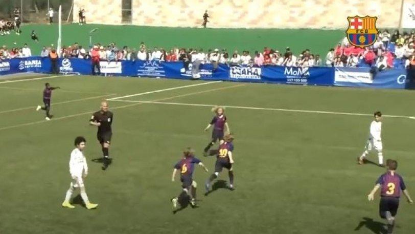 «Εξάρα» η Μπαρτσελόνα στη Ρεάλ Μαδρίτης σε αγώνα κάτω των 10 ετών! (vid)