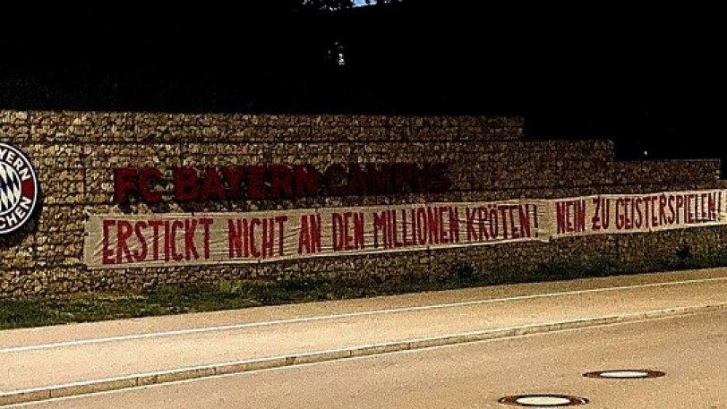 Bundesliga – Πανό κατά της επανέναρξης: «Μην πνιγείτε στα εκατομμύρια σας» (pics)